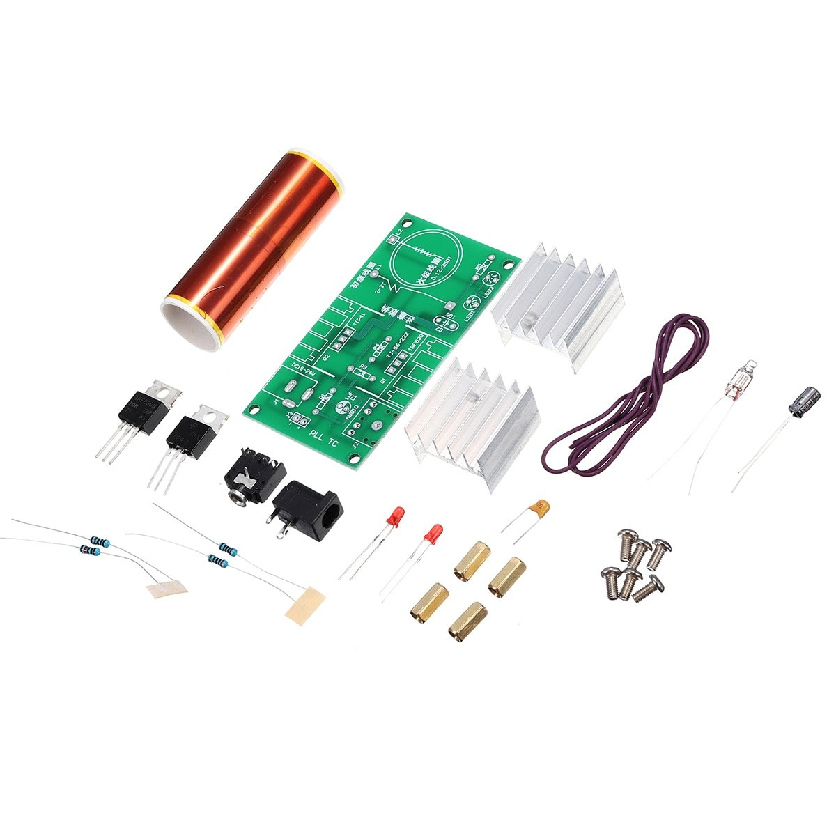 DIY Mini Tesla Coil Module Unassembled Kit