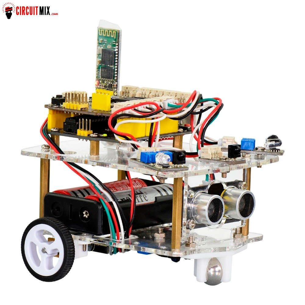 Diy Mini Bluetooth Robot Smart Car Kit For Arduino Robot Starter Stem Four Function