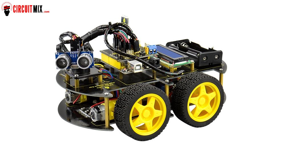 DIY 4WD Bluetooth Multi-functional Smart Car For Arduino Robot Education  Programming+User Manual